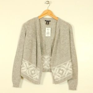 Girls Cardigan Sweater Open Front Draped L 14 New